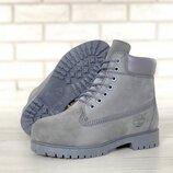 Натуральный нубук мех, ботинки зимние теплые женские, мужские, р 36-45, YOF11677