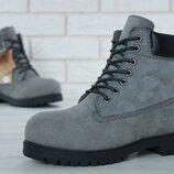 Натуральный нубук и мех, ботинки зимние женские, мужские, р 36-45, YOF11335
