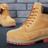 Timberland Тимберленд, нат. нубук мех, ботинки зимние женские, мужские, р 36-45, YOF10115