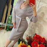 Платье блеск -- люрекс пояс -- 5 цветов