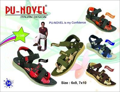 Крутые сандалии, шлепанцы Pu-Novel р. 41-42 8 27 см Индия