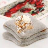Кольцо женское с белыми кристаллами код 1711