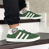 Adidas Gazelle кроссовки мужские демисезонные зеленые 8493
