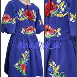 26-34, Сукня вишиванка для дівчинки, маки. Платье Вышиванка, детская вышиванка