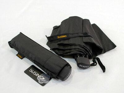 Качественный компактный складной мужской зонт Susino Black