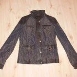 Куртка легенькая с кожаными вставками Германия размер евро 36