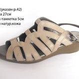Кожаные босоножки, сандалии TLC р.41/42