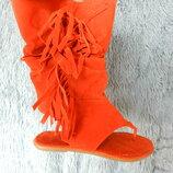 сандалии бахрома
