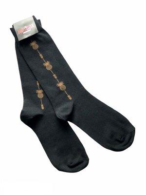 Стильные, актуальные, модные, крутые высокие мужские носки Hot Sox, Ананасы, 40-45