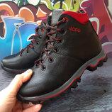 Кожаные зимние ботинки для мальчика, код 781