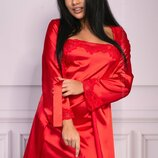 Комплект для дома халат, сорочка, стринги Jacqueline red от Livia Corsetti Супер цена