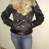 Очень теплая зимняя поздняя осень пуховик , куртка косуха М