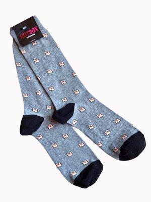 Стильные, актуальные, модные, крутые высокие мужские носки Hot Sox, 40-45