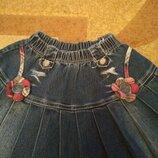 Джинсовая плессированная юбочка для вашей модницы