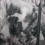 ветровка дождевик next с капюшоном красивый принт цветы складывается в мешочек