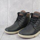 Ботинки мужские черные-матовые натуральная кожа, зима