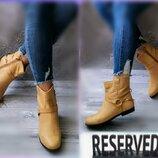 37-38р Кожа Новые Reserved,деми полусапожки,ботинки
