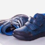 Детская обувь. Ботинки для мальчика Clibee синие р. 32-37