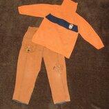 Демисезонные джинсы и свитер, мальчик 3-4 лет, рост 104 см