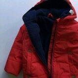 Теплая демисезонная куртка курточка деми еврозима на флисе утепленная