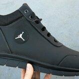 Jordan мужские зимние кожаные кроссовки большого размера гиганты зима