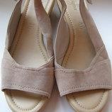 Босоножки Marks&Spencer Footglove, 100% натуральная замша, размер 7 или 40/41