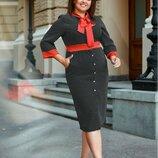 Платье красная лента батал, Размеры 50-52, 54-56.