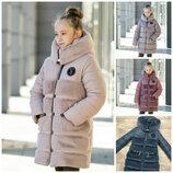 Куртка зимняя для девочки Плюша на рост 110-146