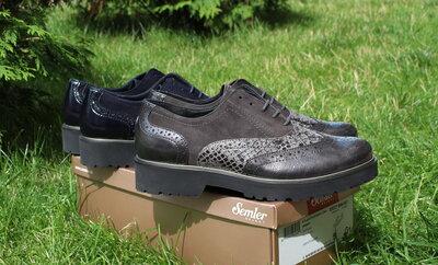 Шикарні шкіряні туфлі Semler, Німеччина-Оригінал