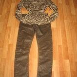 Джинсы GANT оригинал,р-р 28,прямые зауженные,красивый коричневый