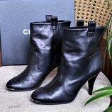 Ботильоны / ботинки Chanel Шанель , оригинал, кожаные, цвет-черный.