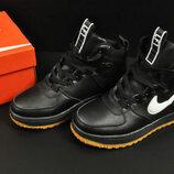 подростковые ботинки Nike Lunar Force 1 черные