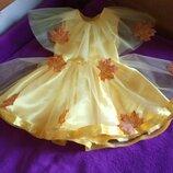 Золотая осень листик платье обруч