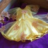 Платье золотая осень листик обруч