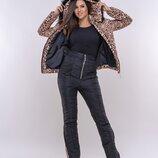 Зимний костюм леопард/черный К-58939, Размеры 42-44, 44-46.