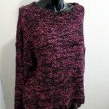Свитер пуловер крупной вязки