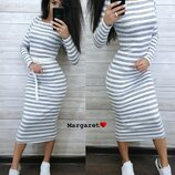 Теплое ровное платье Ма-600