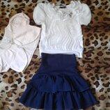 Комплект юбка блуза болеро можно в школу 5-7лет