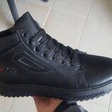 Зимние кожаные ботинки FILA бот