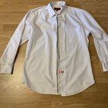 Фирменная мужская рубашка Bergamo New York,яркая белая рубашка