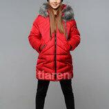 Хит продаж, зимний пуховик для девочки Лада 140-164 см.