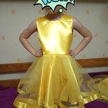 Платье жёлтое осенний бал золотая осень листик лист