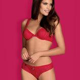 ROUGEBELLE SET Obsessive красный алый комплект женского белья
