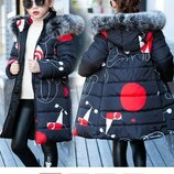 детская куртка теплая- Пуховик зимняя парка пальто термо комбинезон термо
