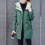 куртка женская зимняя парка куртка пальто, пуховик женский