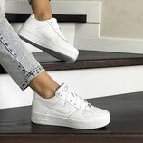 Кроссовки женские Nike Air Force белые 8505