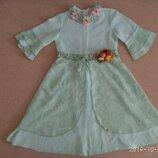 Платье на праздник осени, лесной мавки, феи, цветов с заколкой