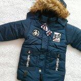 Куртка утепленная холодная осень Еврозима р. 122, 128,134. В наличии