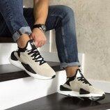 Adidas Y-3 Kaiwa кроссовки мужские демисезонные бежевые 8507