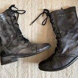 Серебряные кожаные ботинки Blend, р-р 38